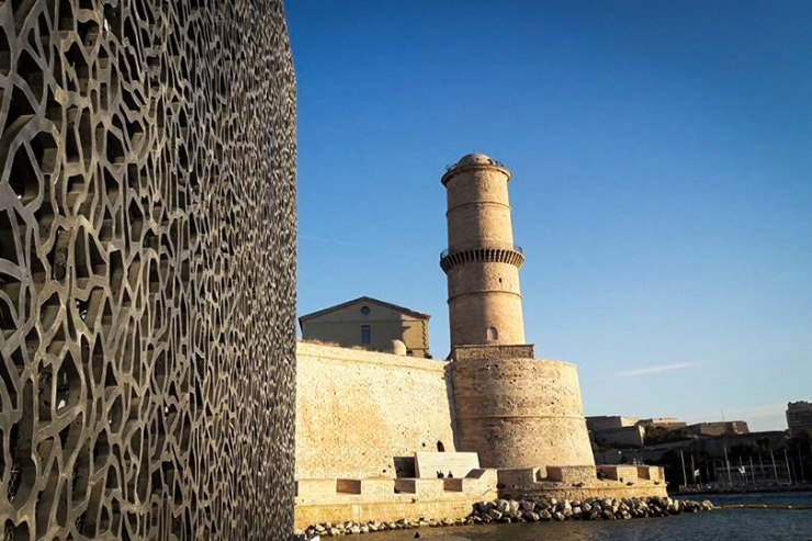 The MUCEM (Museum of European and Mediterranean Culture) was once a fortress in Marseille